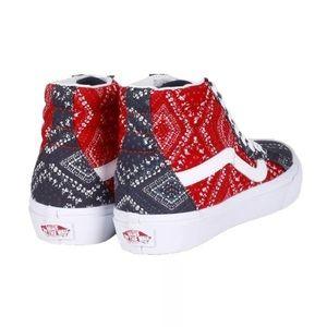 0ddda09b3b7 Vans Shoes - Vans sk8 hi bandana chill pepp shoes sneakers 8.5